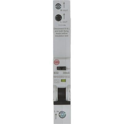 Wylex RCBO Single Pole Single 32A 30mA Module B NHXSBS1B32
