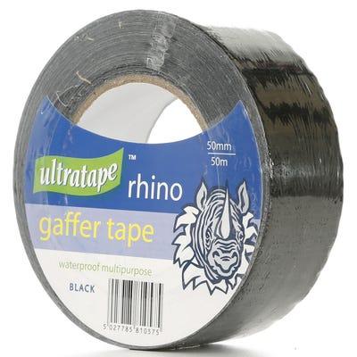 Ultratape Rhino Gaffer Tape Black 50mm x 50m