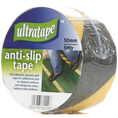 Anti Slip Tape Black / Yellow 50mm x 5m