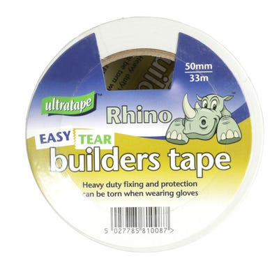 Ultratape Builders Tape White 50mm x 33m