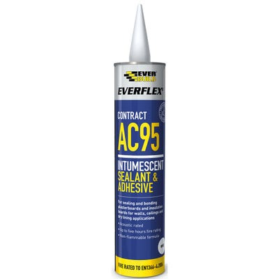 Everbuild AC95 Intumescent Acoustic Sealant and Adhesive White 900ml