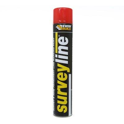 Everbuild Surveyline Site Spray Paint Red 700ml
