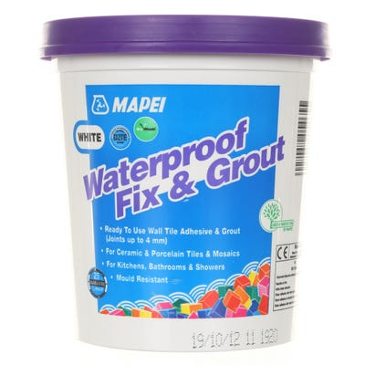 Mapei White Waterproof Fix & Grout