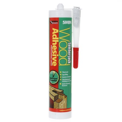 Lumberjack 5 Minute Polyurethane Wood Adhesive Gel 310ml