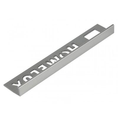 Homelux 8mm Silver Straight Edge Metal Tile Trim 2.5m