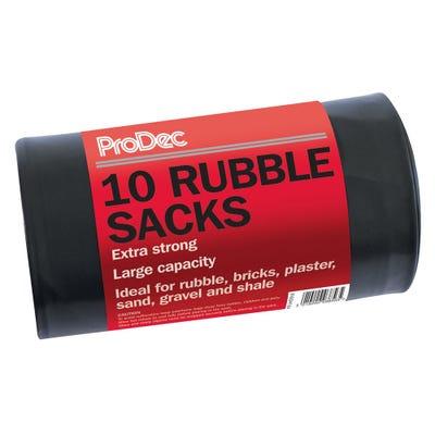 ProDec Heavy Duty Rubble Sacks Roll of 10