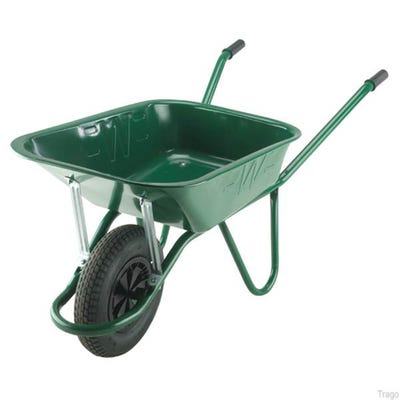 Walsall 90L Green Endurance Wheelbarrow Includes Pneumatic Tyre