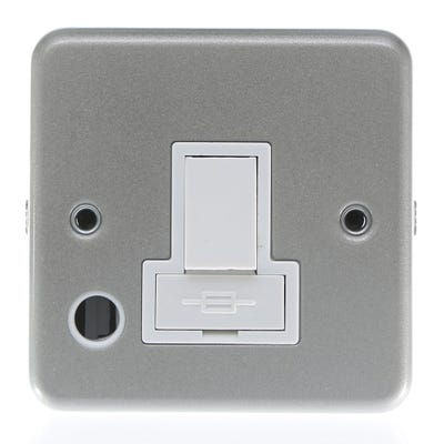 KingShield 13A Metal Clad Switched Fuse Spur with Flex Outlet MC716