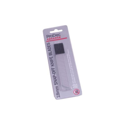 ProDec Advance 18mm Replacement Snap off Blades Pack of 10