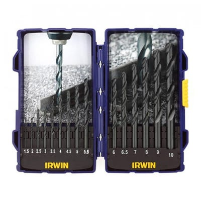Irwin 15 Piece HSS Pro Drill Bit Set