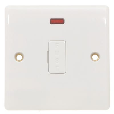 BG Nexus 13A Unswitched Fused Spur Unit with Cable Outlet & Neon 857-01