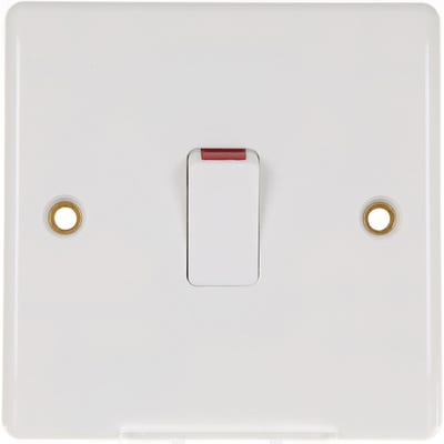 BG Nexus 20A Double Pole Switch with Cable Outlet 832-01