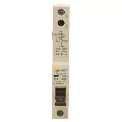 BG Nexus RCBO Single Pole 10A Type B CURB10