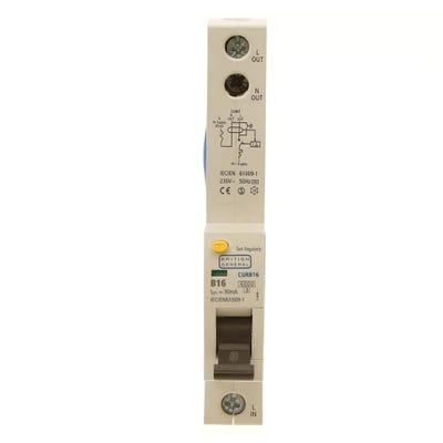 BG Nexus RCBO Single Pole 16A Type B CURB16