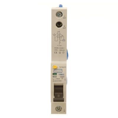 BG Nexus RCBO Single Pole 32A Type B CURB32