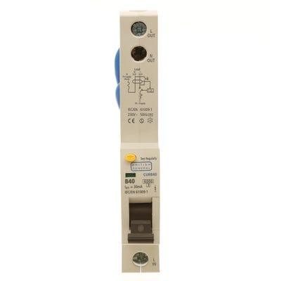 BG Nexus RCBO Single Pole 40A Type B CURB40