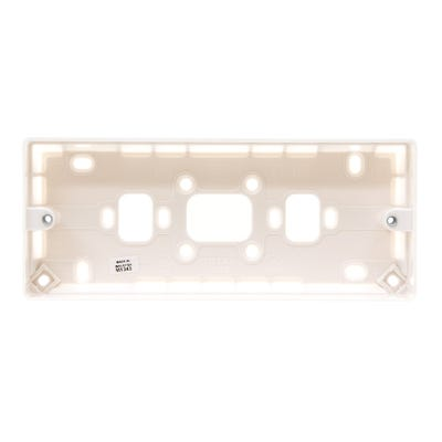 MK 30mm 3 Gang Surface Plastic Mounting Box K2153WHI