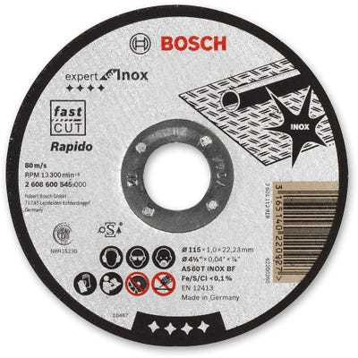 Bosch Inox Cutting Disc Metal 115 x 1.0 x 22.2mm