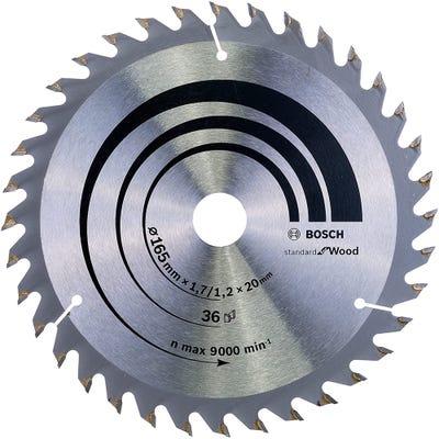 Bosch Circular Saw Blade Optiline Wood 165 x 1.7 x 20mm 36T