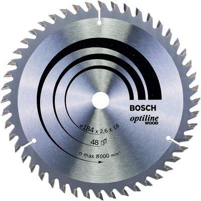 Bosch Circular Saw Blade Optiline Wood 184 x 2.6 x 16mm 48T