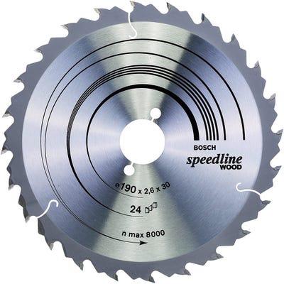 Bosch Circular Saw Blade Speedline Wood 190 x 2.6 x 30mm 24T