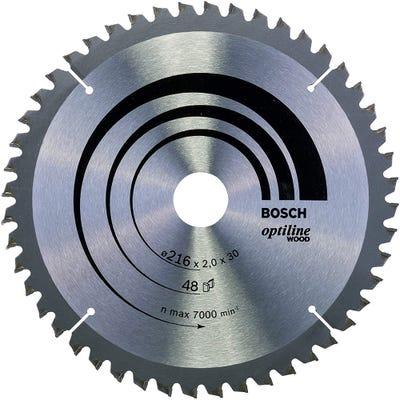 Bosch Circular Saw Blade Optiline Wood 216 x 2.0 x 30mm 48T