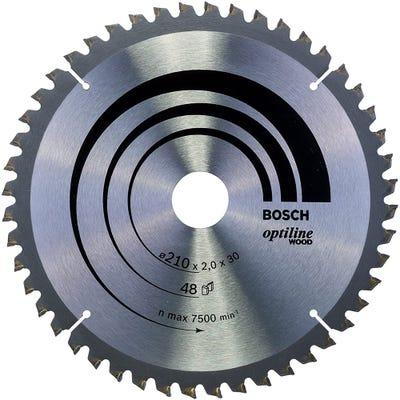Bosch Circular Saw Blade Optiline Wood 210 x 2.0 x 30mm 48T