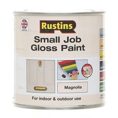 Rustins Quick Dry Small Job Gloss Paint Magnolia 250ml