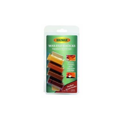 Briwax Wax Filler Sticks Dark Pack of 4