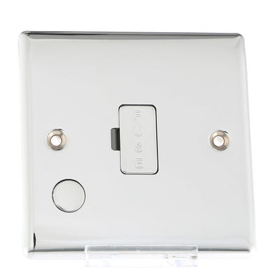 BG Nexus 13A Unswitched Fused Connection Unit with Cable Outlet Polished Chrome NPC55-01