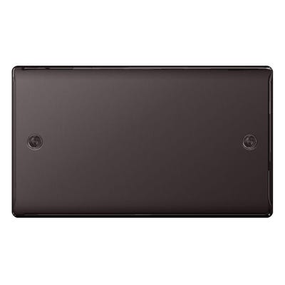 BG Nexus 2 Gang Blanking Plate Black Nickel NBN95-01