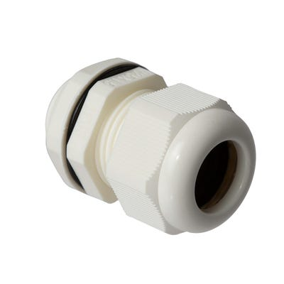 Stuffing Gland & Nut 25mm Pack of 10 White QCGM25WHT