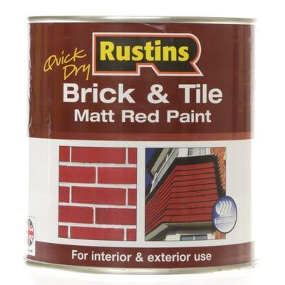 Rustins Quick Dry Brick & Tile Matt Red Paint