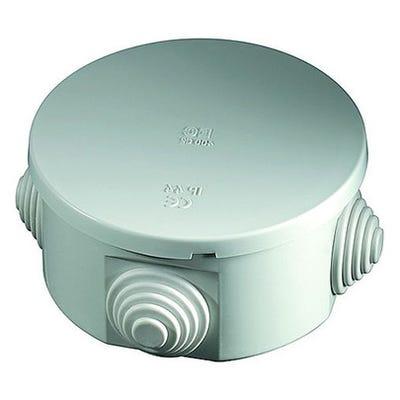 Wiska Weatherproof IP55 Round Junction Box with Grey Glands 80 x 40mm (WIB13)
