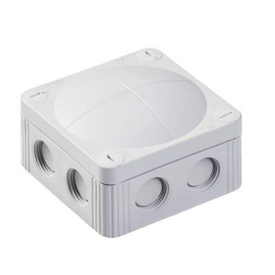 Wiska Junction Box IP66/IP67 Grey with 5 Pole Terminal Block 85 x 85 x 51mm (COMBI 308/5)