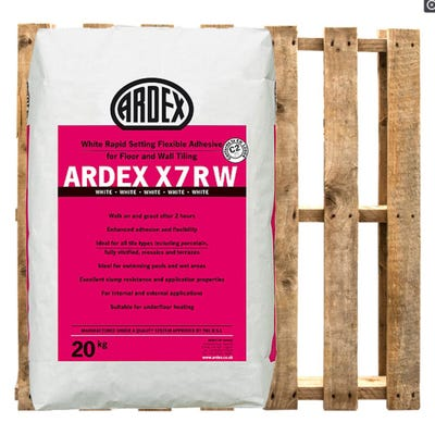 Ardex X7R White Rapid Set Tile Adhesive 20Kg Pallet of 50