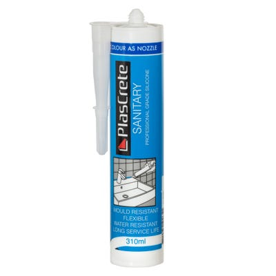 PlasCrete Sanitary Kitchen & Bathroom Silicone 310ml