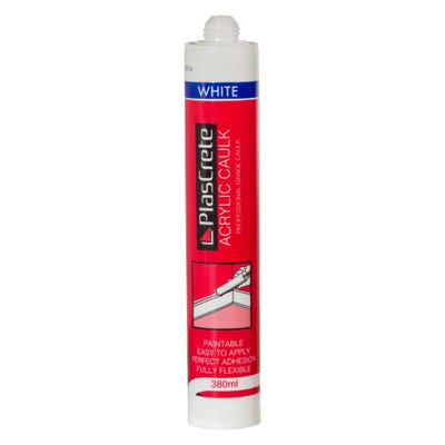 PlasCrete Acrylic Decorators Caulk White 380ml