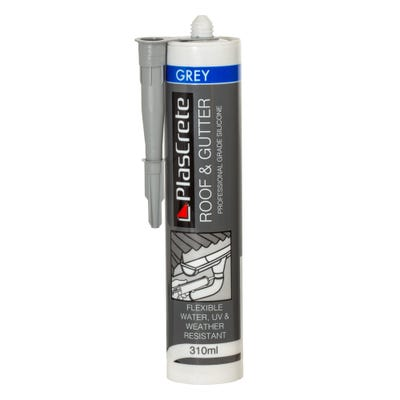 PlasCrete Lead Sheet Roof & Gutter Silicone Grey 310ml