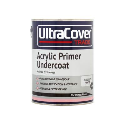 UltraCover Trade Acrylic Primer Undercoat Brilliant White 5L