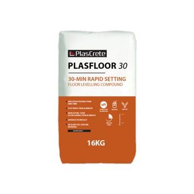 PlasCrete Plasfloor 30 Rapid Set Latex Floor Levelling Compound 16kg