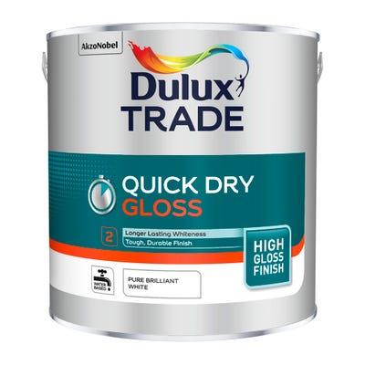Dulux Trade Quick Dry Gloss Pure Brilliant White 2.5L