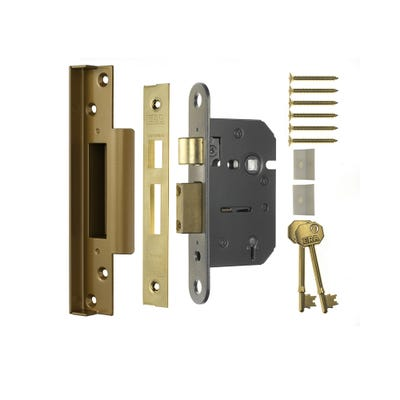 ERA 2 Lever Rebated Sashlock 64mm Brass