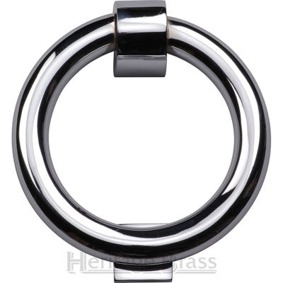 Heritage Brass Ring Knocker 107mm Diameter Polished Chrome
