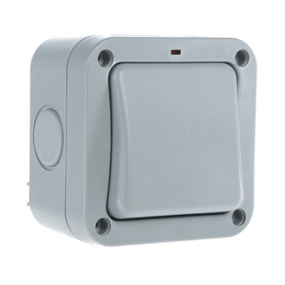 BG Nexus 20A 1 Gang 2 Way IP66 External Switch WP12-01
