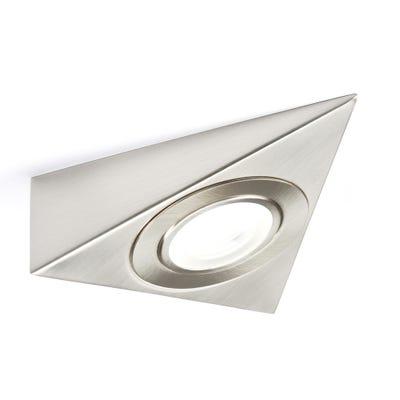 Knightsbridge LED Triangle Under Cabinet Light Brushed Chrome 4000K