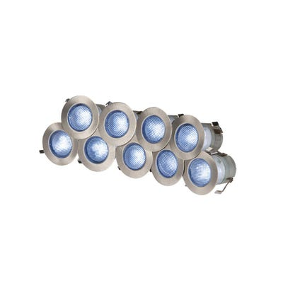 Knightsbridge IP65 10 X 0.2W Blue LED Decking Light Kit