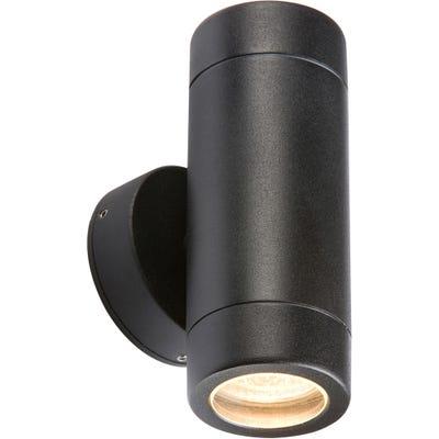 Knightsbridge IP65 GU10 Up & Down Fixed Wall Light Black - 35W
