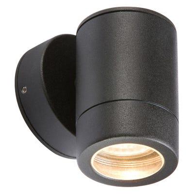 Knightsbridge 35W IP65 GU10 Up Or Down Wall Light Black