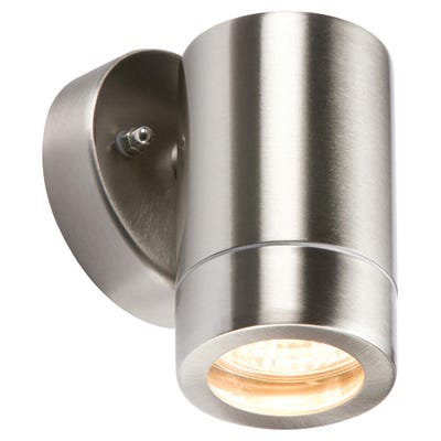 Knightsbridge 35W IP65 GU10 Up Or Down Wall Light Stainless Steel